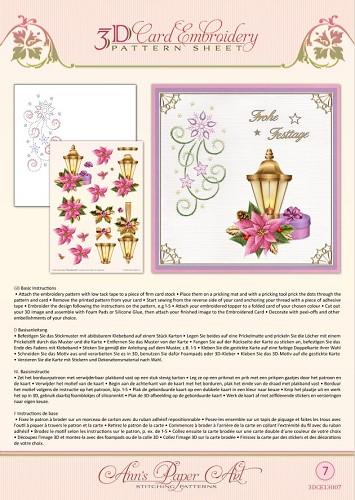 Stickvorlagen 3 D Motive mit Anns Paperart