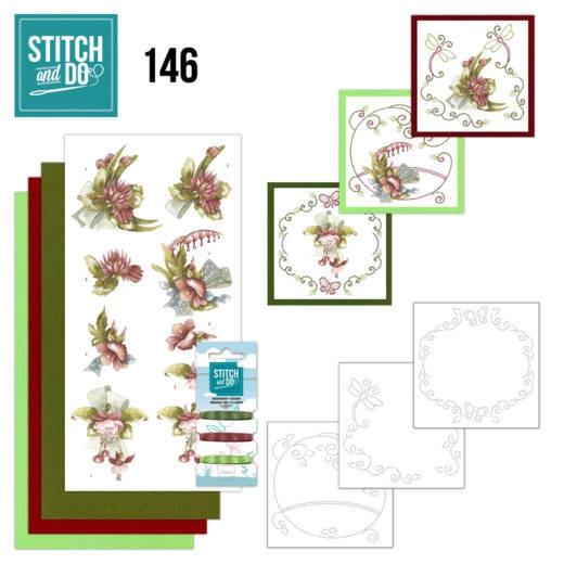 STDO146 Stitch & Do Set 146 Pretty Flowers Red Flowers