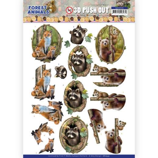 SB10535 AD Stanzbogen Forest Animals - Fox (Fuchs)