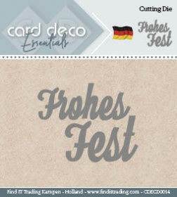 CDECD0014 Stanzschablone  Frohes Fest