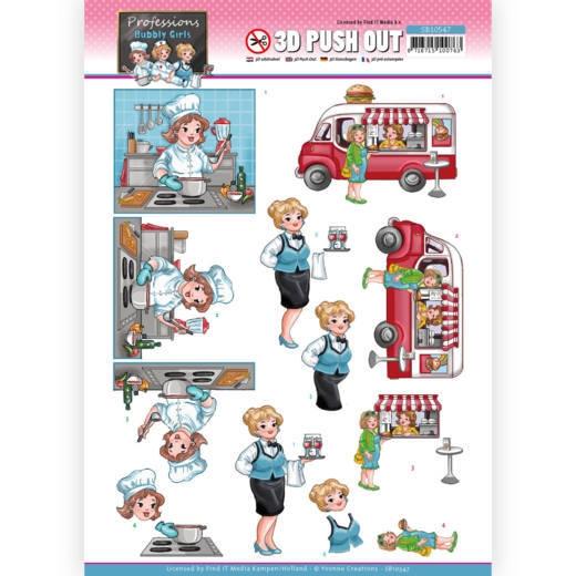 SB10547 YC Stanzbogen Bubbly Girls Proffesions - Catering