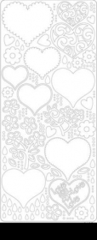 0427schw Stickerbogen Herzen schwarz