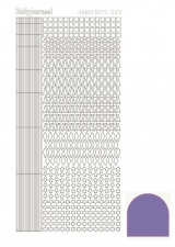 STDM96 Hobby-Dots Sticker Mirror violett