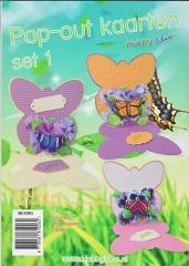 HI-1001 Pop-out Karten Set 1 Schmetterlinge