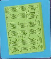 2000086x Cuttlebug Prägeschablone Marg´s Melodies  12,7 x 1