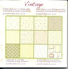 1010242x Papierblock Vintage 10