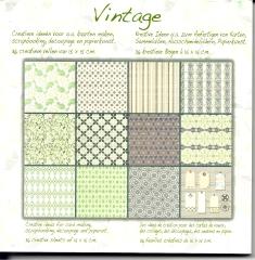1010243x Papierblock Vintage 11