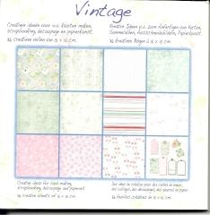 1010244x Papierblock Vintage 12