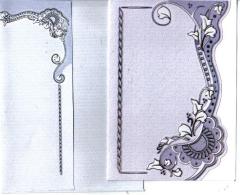 114608 Geprägte Karte  blau/silber