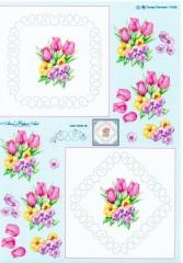 H115080 Anns Paper Art Stickvorlage mit Blumen