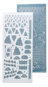 LCR61.8497 Winter Scenery Stickerbogen mirror blue