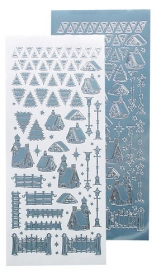 LCR61.8473 Winter Scenery Stickerbogen ice blue