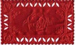 1222 Satindeckchen rot