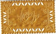 1227 Satindeckchen goldgelb