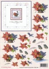 3DSS10006 Stickvorlage Blumengesteck