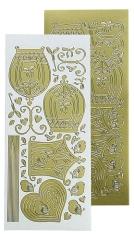 LCR61.8763 Leane Creatief Vogelkäfig Sticker gold