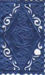 1237 Satindeckchen blau