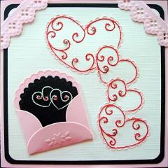 K5-2 Stickvorlage Herzen