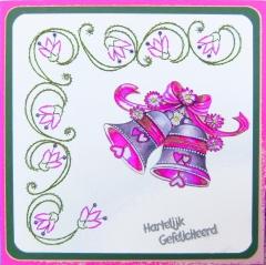 K6-3 Stickvorlage Blütenband