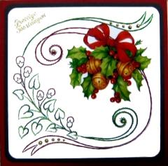 K9-4 Stickvorlage Weihnachtsband