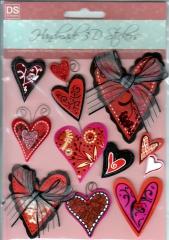 4607237 Handmade 3D Stickers Herzen