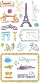 1358 Clear Stamp Set Travel