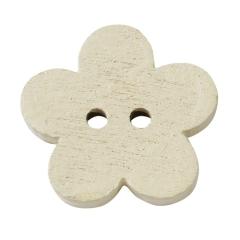 3863103 Holzknopf Blume ca. 1 cm 40 Stück Muschel