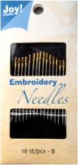6200-0034 JoyCrafts Embroidery Needles 8 16 Stück
