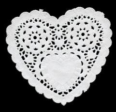 PD007 Paper Frames  10 cm Heart (Herz)