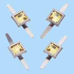 3860439 Deko-Verschluss mit Splint, rechteckig, Btl. a 10 St. Be
