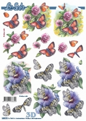 680075 Stanzbogen A4 Schmetterling I
