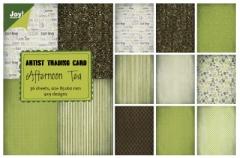 6011-0406 Papierblock Artist Trading Card Afternoon Tea
