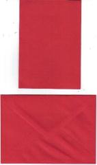 Doppelkarte in rot mit Briefumschlag