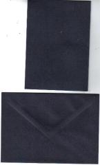 Karte blau-schwarz