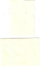 Karte creme mit Briefumschlag
