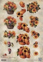 CD10755 AD Schneidebogen Autumn Moments Herbstblumen