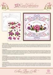 3DCE13011 Stickvorlage Garden Enchanted