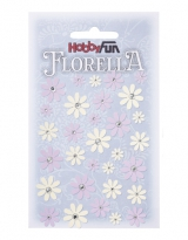 3866153 Florella Papierblumen sering-creme 33 Stück