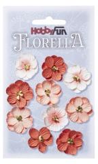 3866017 Florella Blumen aus Moerbijpapier 2, 5 cm  perzik
