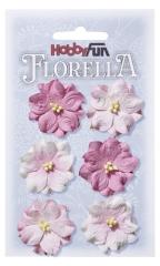 3866025 Florella Blumen aus Moerbijpapier 3,5 cm rose