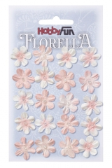 3866031 Florella Blumen aus Moerbijpapier 2 cm vaalrose
