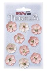 3866041 Florella Blumen aus Moerbijpapier 2,5 cm vaalrose