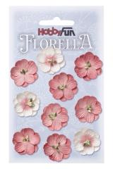 3866042 Florella Blumen aus Moerbijpapier 2,5 cm hortensia