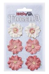 3866052 Florella Blumen aus Moerbijpapier 3,5 cm  hortensia