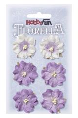 3866053 Florella Blumen aus Moerbijpapier 3,5 cm  lavendel
