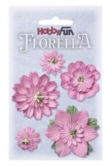 3866065 Florella Blumen aus Moerbijpapier 2-5 cm rose sortiert