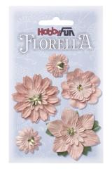 3866066 Florella Blumen aus Moerbijpapier 2-5 cm rosenholz sorti
