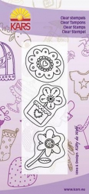 180013-0512 Clear stamps Flower power