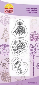 180013-0525 Clear stamps Snow headstock mistletoe