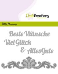 115633-0403 Craftemotions Text Stanzschablone Beste Wünsche